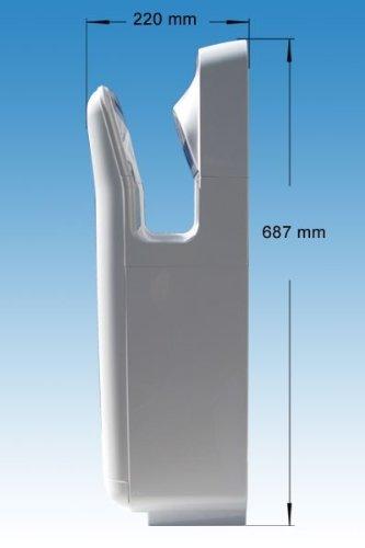 URIMAT Händetrockner FAVORIT, Farbe:Silber