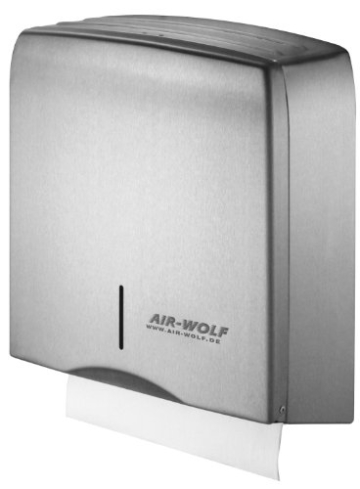AIR-WOLF Papierhandtuchspender, Edelstahl, Serie Gamma - 1